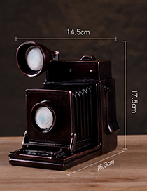 Fashion Dark Red Camera Shape Decorated Home Furnishings