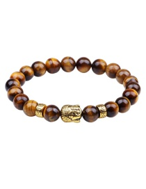 Fashion Brown Buddha Head&beads Decorated Bracelet