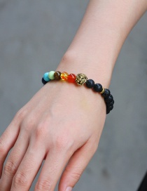 Fashion Multi-color Lion Head&beads Decorated Bracelet