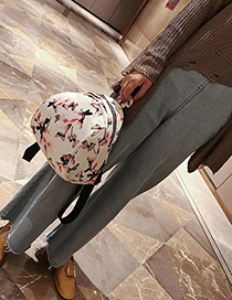 Fashion White Narcissus Pattern Decorated Backpack