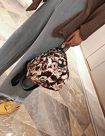 Fashion Black+pink Narcissus Pattern Decorated Backpack