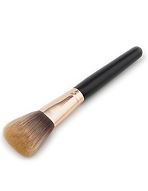 Fashion Black+dark Brown Color-matching Decorated Brush