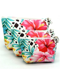 Trendy Red Morning Glory Pattern Decorated Cosmetic Bag(3pcs)
