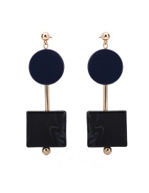 Fashion Multi-color Sqaure Shape Decorated Earrings