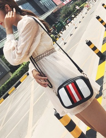Fashion Black Color-matching Decorated Bag