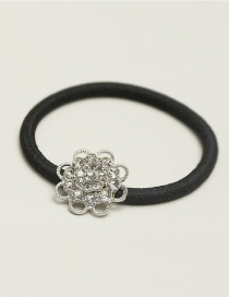 Fashion Silver Color Hollow Out Flower Decorated Hair Band