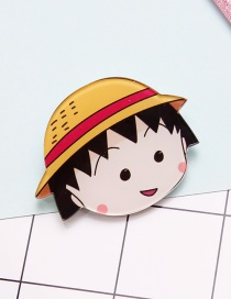 Lovely Yellow+black Chibi Maruko-chan Decorated Brooch
