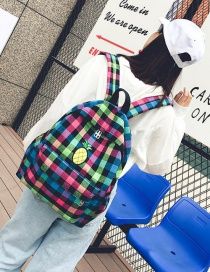 Fashion Muilt-color Pineapple Shape Decorated Backpack