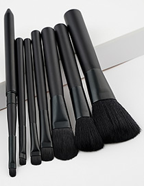 Fashion Black Pure Color Decorated Makeup Brush ( 7 Pcs )