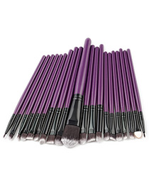 Fashion Purple Pure Color Decorated Makeup Brush ( 20 Pcs )