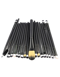 Fashion Black Pure Color Decorated Makeup Brush ( 20 Pcs )