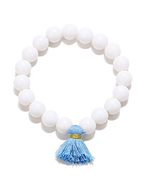 Fashion White Tassel Decorated Bracelet