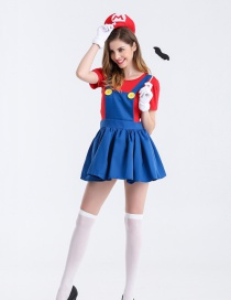 Fashion Red Color Matching Decorated Cosplay Costume(without Socks, shoes)