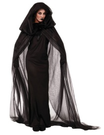 Fashion Black Pure Color Decorated Cosplay Costume(with Headdress,gloves,dress)