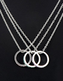 Fashion Silver Color Letter Pattern Decorated Necklace (3 Pcs )