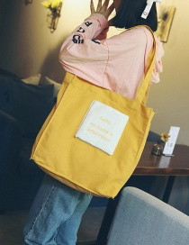 Trendy Yellow Letter Pattern Decorated Shoulder Bag