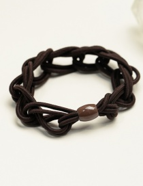 Fashion Brown Pure Color Decorated Hair Band