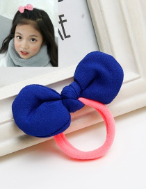 Sweet Navy Bowknot Decorated Simple Hair Band