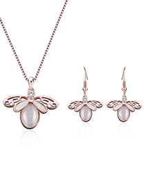 Fashion Gold Color Insect Shape Design Simple Jewelry Sets