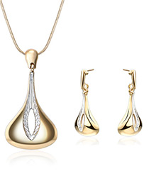 Fashion Gold Color Irregular Shape Decorated Jewelry Sets