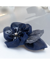 Fashion Navy Flower Shape Decorated Simple Hairpin