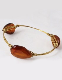 Vintage Brown Irregular Shape Decorated Bracelet