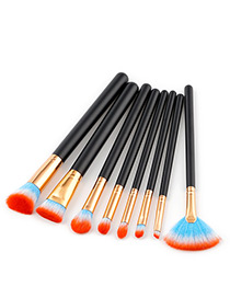 Fashion Orange Color-matching Decorated Brushes (8pcs)