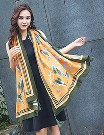 Bohemia Yellow Fish Shape Decorated Scarf