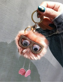 Cute Pink Sunglasses Decorated Key Chain