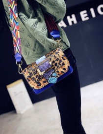 Fashion Khaki Leopard Shape Decorated Bag