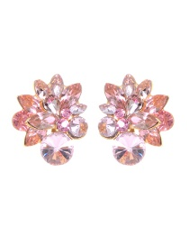 Fashion Light Pink Pure Color Decorated Earrings