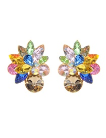 Fashion Multi-color Pure Color Decorated Earrings