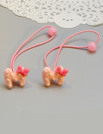 Cute Pink M Shape Decorated Baby Hair Band