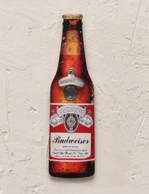 Fashion Red Beer Bottle Pattern Decorated Ornament