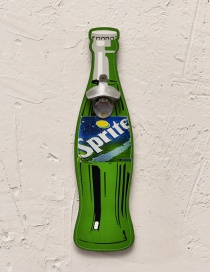 Fashion Green Beer Bottle Pattern Decorated Ornament