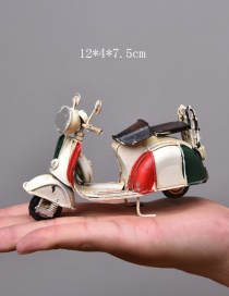 Personality White Motorcycle Shape Decorated Ornaments