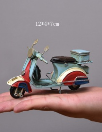 Personality Light Blue Motorcycle Shape Decorated Ornaments