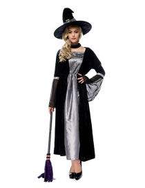 Fashion Black Witch Decorated Costume