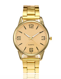 Elegant Gold Color Pure Color Decorated Watch