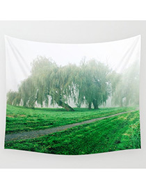 Fashion Green Tree Pattern Decorated Blanket