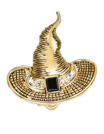 Lovely Gold Color Witch Hat Decorated Brooch