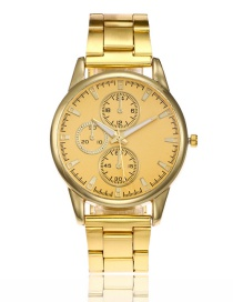 Fashion Goldcolor Pure Color Decorated Watch