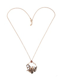Fashion Gold Color Bird Shape Decorated Necklace