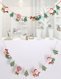 Fashion Red+green(glitter) Santa Claus&tree Decorated Christmas Ornaments