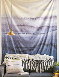 Fashion Light Gray+blue Color Matching Decorated Blanket