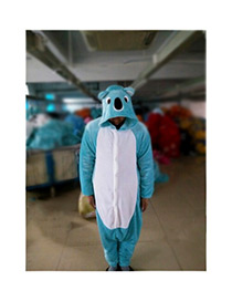 Fashion Blue Koala Shape Decorated Pajamas