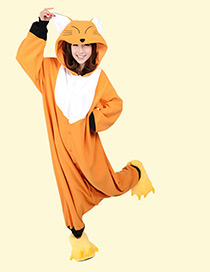 Fashion Orange Fox Shape Decorated Pajamas