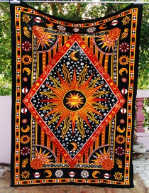 Fashion Multi-color Sun&flower Pattern Decorated Blanket