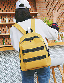 Lovely Yellow Stripe Pattern Decorated Backpack