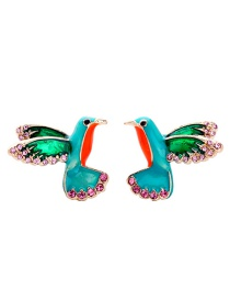 Fashion Multi-color Birds Shape Decorated Simple Earrings